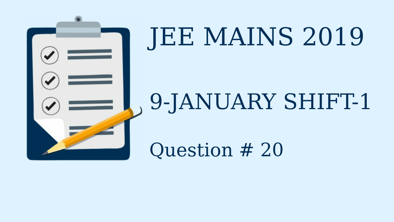 Jee Mains 2019 Class 11 STRAIGHT LINES